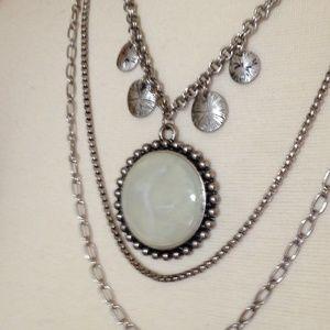 LAURA ASHLEY - Layered Moonstone Necklace - EUC